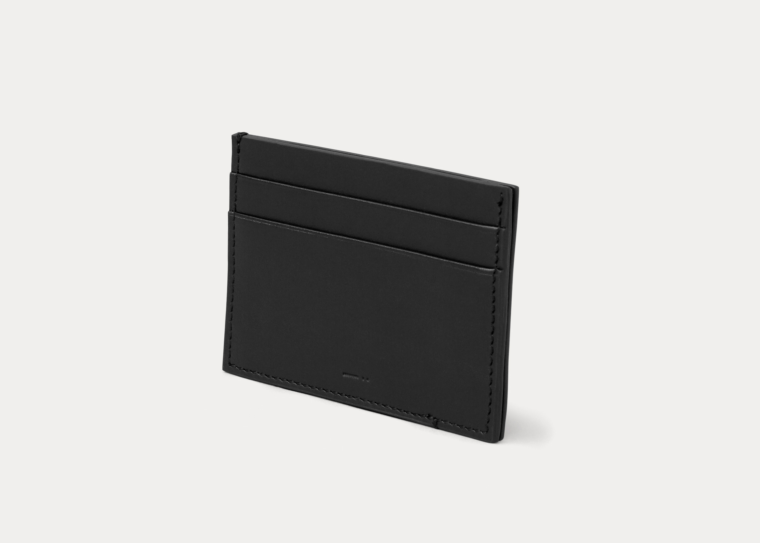 card wallet black leather