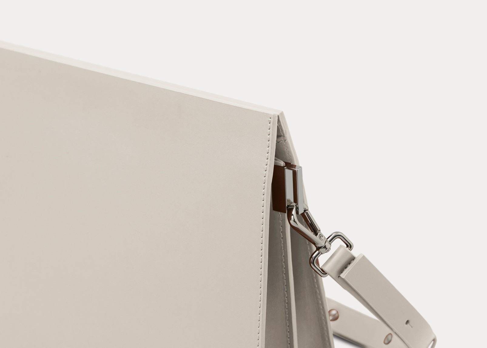 shoulder bag grey leather