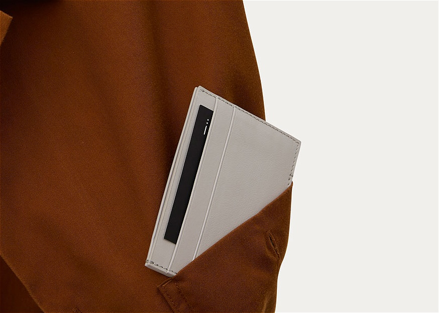 card wallet grey leather