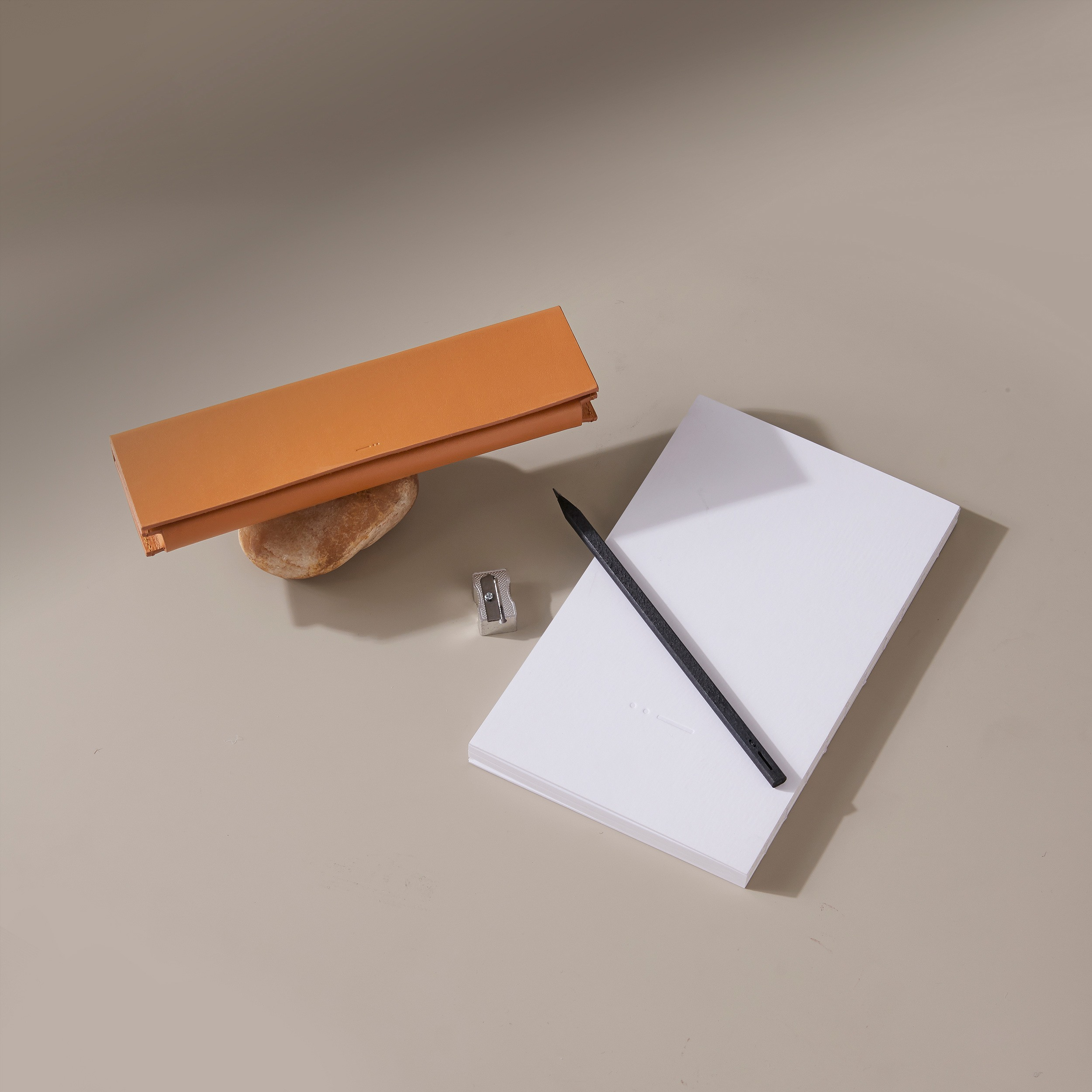 Leather stationery