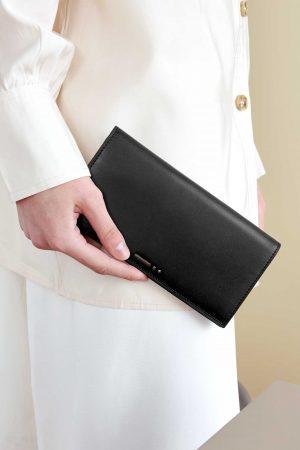 กระเป๋าหนัง ใส่สตางค์  สีดำ dash.