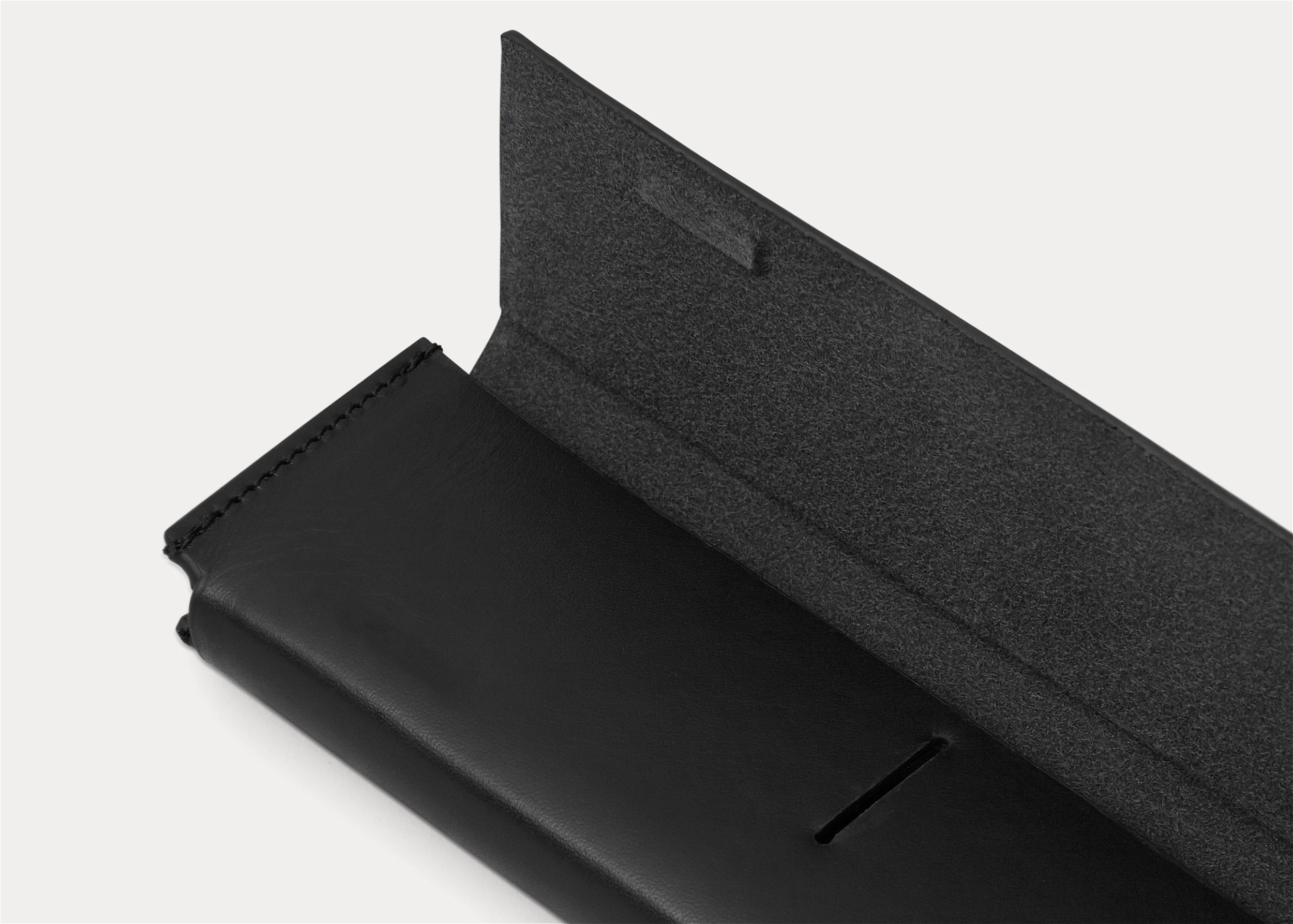 minimal black pencil case