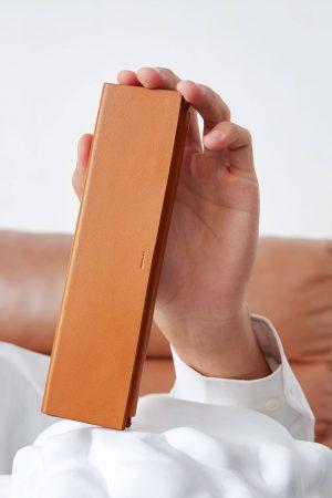 มินิมอล กล่องดินสอ สีน้ำตาล