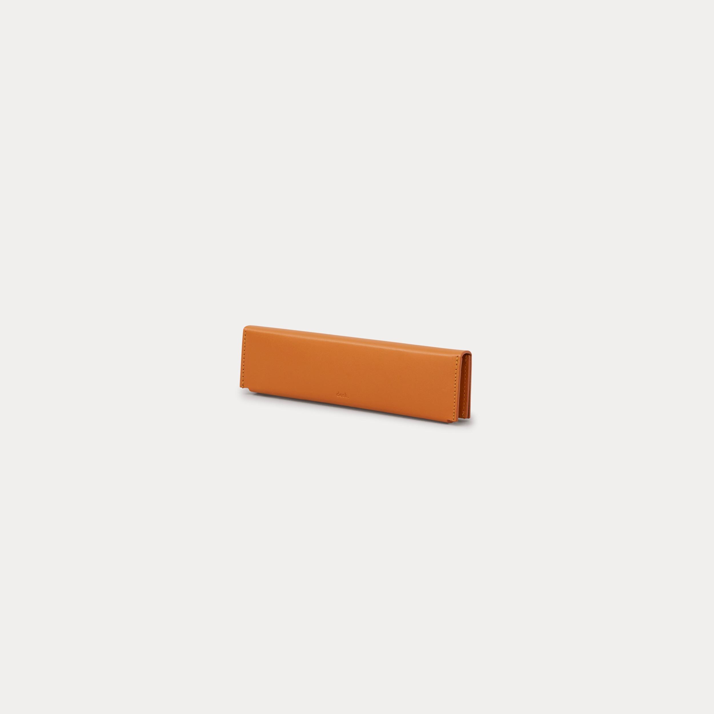 minimal brown pencil case