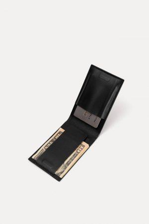 Black Leather Pocket Wallet