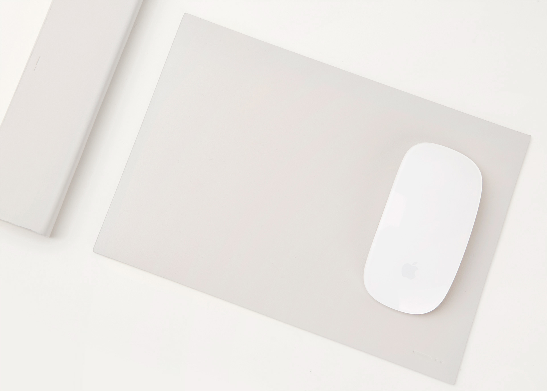 grey leather mouse pad