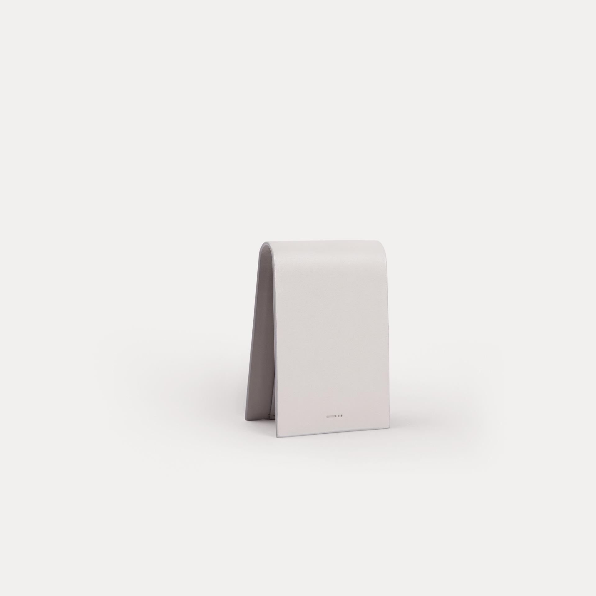 Grey Leather Pocket Wallet