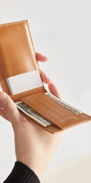 Brown Leather Pocket Wallet